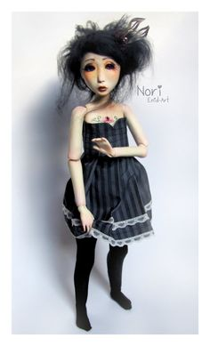 OOAK double jointed BJD  Nori by EnidArt