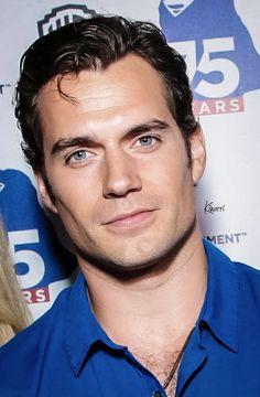 Mesmerising he is....you cant stop looking into his eyes. Henry Cavill