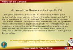 Misioneros de la Palabra Divina: MEDITACIÓN DEL EVANGELIO