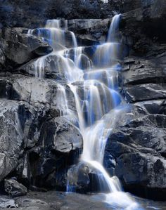 Very cool blue waterfall... who'd like to pull up a #gazebo and rest awhile? amishgazebos.com
