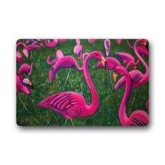 Custom Machine-washable Door Mat Flamingo Floor Mats Livi... https://www.amazon.com/dp/B06WP3P44P/ref=cm_sw_r_pi_dp_x_d1w3yb77Z6KFH