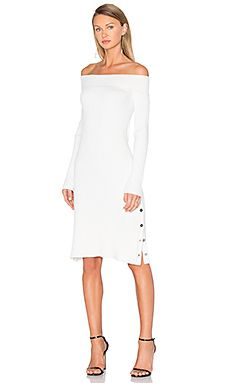 C/MEO Life is Real Long Sleeve Knit Dress in White | REVOLVE