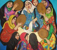 Wassma al-Agha Iraque Galaxy Painting Acrylic, Palestine Art, Middle Eastern Art, Arabian Art, Moroccan Art, Bo Bartlett, Egyptian Art, Islamic Art, Oeuvre D'art