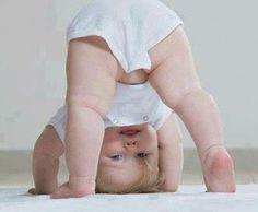Upside  down baby