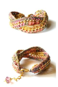 Infinity Ombre gold multicolor pink shades by HoperalabJewels