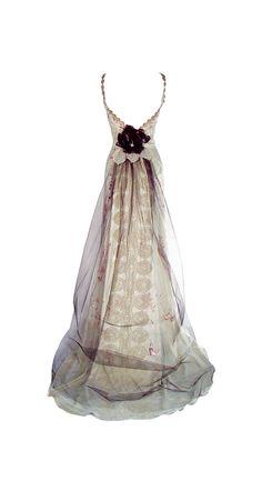 CLAIRE PETTIBONE 'Midnight' Wedding Gown (Back)