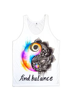 Find Balance Tank-top #ElectroThreads