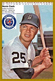 Norm Cash Chicago White Sox 1958 Style Custom Baseball Art Card