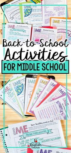 Get to know your new students the first day of school with these back to school activities for middle school students! Ideal for the first day of school and the first week of school, these ice-breaker activities will help bring your students together. First day fo school student survey. #backtoschool #middleschool #firstdayactivities #backtoschoolactivities #teacher