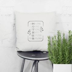 Items similar to Mother! Quote pillow that shows your love and admiration for mum! Original handprinted birthday gift, for mothers day, Christmas. on Etsy Colorful Interior Design, Colorful Interiors, Pillow Quotes, Color Psychology, Mother Quotes, Present Day, Fabric Art, Tool Design, Mothers
