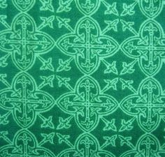 Lucky Irish Print Fabric Celtic Medallions