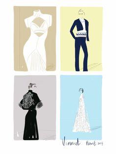 Vionnet, resort 2014.   Open Toe, fashion illustrated - Opentoeillustration.com