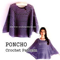 Free Crochet Patterns: Crochet Poncho Pattern                                                                                                                                                                                 More