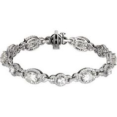 #66839, 3-1/3ct TW Created Moissanite and Diamond Bracelet, Nathalie's Jeweler