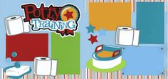 Potty Training Page Kit  Out on a limb scrapbooking