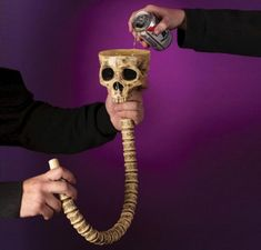 Take the halloween festivities to the next level with this hilariously spooky skull and spine beer bong. Just pour some natty light into the skull and. Oregon Trail Card Game, Skull Shot Glass, Best Man Caves, Stretch Armstrong, Beer Bong, Man Cave Bathroom, Home Bar Accessories, Vodka Shots, Man Cave Diy