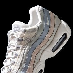 NIKE Women's Shoes - The Nike Air Max 95 Trainer in Phantom and Wolf Grey is out now. - Find deals and best selling products for Nike Shoes for Women Air Max 95, Nike Air Max, Nike Free Shoes, Running Shoes Nike, Running Sports, Air Max Sneakers, Sneakers Nike, Sneakers Design, Nike Slippers