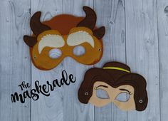 Beauty and the Beast Inspired Felt Mask Party by TheMaskerade