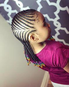 Brooklyn, New York Ghana Braids Hairstyles, Kids Braided Hairstyles, Pretty Hairstyles, Girl Hairstyles, Children Hairstyles, Kid Braid Styles, Short Hair Styles, Natural Hair Styles, Braids For Kids