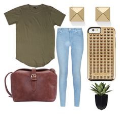 """""""Untitled #13"""" by embozant on Polyvore featuring 7 For All Mankind, Palm Beach Jewelry and Rebecca Minkoff"""