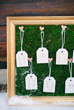 place cards #DIY | Photography: boiseweddinggowns.com