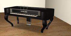 Black Square Grand Piano