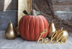 Simple to Make Velvet Pumpkin