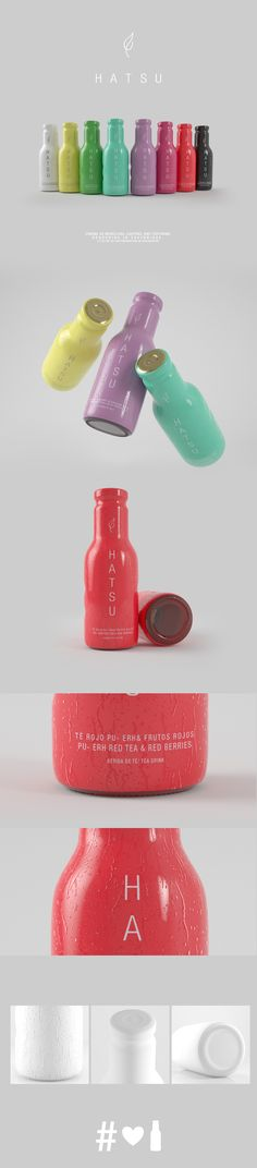 Hatsu is a company from Medellín Colombia, which specializes in teas, and healthy drinks that reflect a lifestyle, The Tea Hatsu line consists of nine exotic flavors. In this occasion we realized the development of its products focusing on each of its … Thing 1, Branding, Brand Packaging, 3d Design, Healthy Drinks, Liquor, Packing, Behance, Bullet Journal