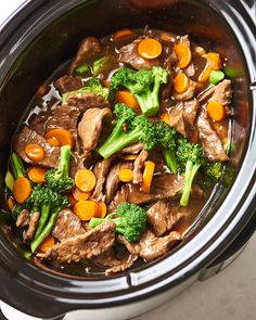 Slow Cooker Beef and Broccoli Thats Better Than Takeout. Need recipes and ideas for easy dinners and meals for families? Make this in your crockpot for a simple fast chinese food dinner. easy dinner recipes for family Crock Pot Cooking, Cooking Recipes, Crock Pot Beef, Cooking Ribs, Crock Pot Slow Cooker, Cooking Turkey, Crockpot Recipes Fast, Beef In Slow Cooker, Tasty Slow Cooker Recipes