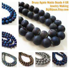 #Diy #Druzy #Beads #jewelry #gemstone #craft #supplies https://www.etsy.com/listing/232259378/metallic-navy-blue-purple-druzy-agate?ref=shop_home_active_5&ga_search_query=druzy%2Bround%2Bbeads