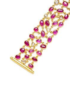 Amrapali ruby and diamond bracelet