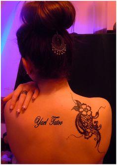 """tatouage ephemere a la paillette par yael : """"le henné version élégance"""" pouryael@hotmail.com FB: Ayael  Henné"""