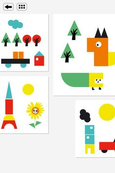 iPad app (kids): Have fun with Plic, Ploc, Wiz and create your own funny illustrations.