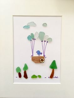 Fly Little Bird Sea glass Art pictures