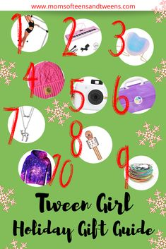 Gifts for Middle School Tween Girls - We're happy to bring you a TWEEN gift guide this time around! It's so much fun to shop for thes - Holiday Gift Guide, Holiday Fun, Holiday Gifts, Christmas Gifts For Teenagers, Gifts For Teens, Popular Birthdays, Tween Girl Gifts, Play Therapy, Therapy Activities