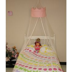 Shop for Pink Princess Crown White Polyester Round Bedding Canopy. Get free delivery On EVERYTHING* Overstock - Your Online Kids Bedding Store! Princess Canopy, Princess Room, Pink Princess, Princess Theme, Bed Crown Canopy, Kids Bed Canopy, Dreams Beds, One Bed, Girl Decor