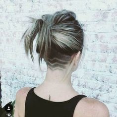 This is the BEST collection of mens undercuts EVER! My Hairstyle, Undercut Hairstyles, Cool Hairstyles, Undercut Hair Designs, Undercut Women, Shaved Undercut, Shaved Nape, Platinum Hair, Hair Tattoos