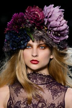 The Michael Costello S/S 2017 show proved that flower crowns are a hair accessory that's here to stay.