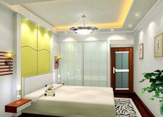 Gypsum Board Ceiling Design for Small Bedroom