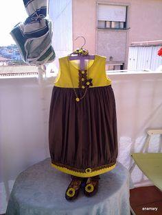 costura infantil: forrar un vestido sin mangas