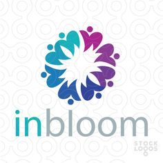 Stylized blooming people create this unified design: Dental Clinic Logo, Make Your Logo, Social Media Design, Modern Logo, Dental Care, Logo Design Inspiration, Service Design, Unity, Business Cards