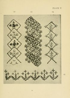 Stitch patterns & design for embroidery