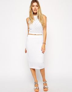 ASOS co-ord Crochet Pencil Skirt