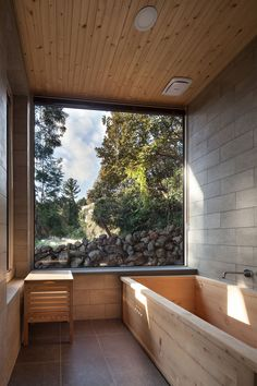 Bathroom in rustic style
