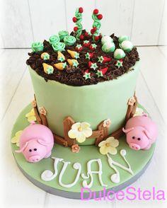 #Cake #huerto #Abuelo #Tarta #campo #Fondant #orchard