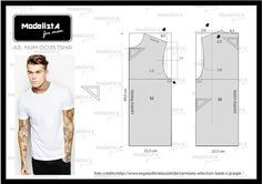 ModelistA: A3 NUMo 0035 TEE T Shirt Sewing Pattern, Mens Sewing Patterns, Sewing Men, Pattern Drafting, Jacket Pattern, Sewing Clothes, Clothing Patterns, Screen Printing Shirts, Modelista