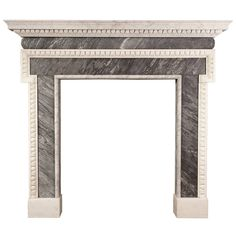 George II Marble Chimneypiece in the Manner of Batty Langley | From a unique collection of antique and modern fireplaces and mantels at https://www.1stdibs.com/furniture/building-garden/fireplaces-mantels/