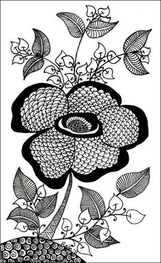 Oscar'sTangle by Penny Raile, CZT.  I love flowers and this is a great one!