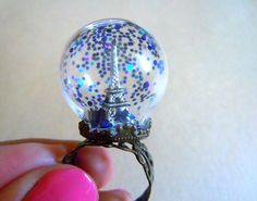 Paris nights by lapinPetite on Etsy, $30.00 #ring #glitter