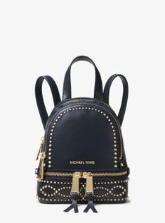 f7bd19c960620 Gleaming studs punctuate our mini Rhea backpack with a boho-luxe  personality. This compact
